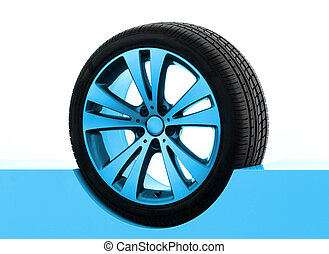 Tire Presentation - Car rim and tire