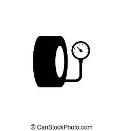 Tire pressure gauge icon.