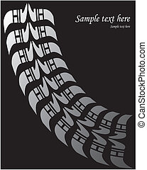 Tire print - Vector