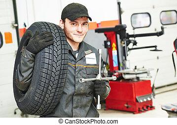 tire repairman auto mechanic