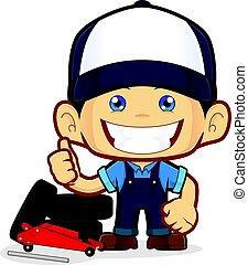 Tire service mechanic