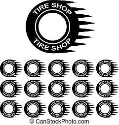 tire service shop rent wash car garage - illustration for...