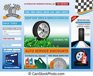 Tire shop website