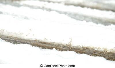 Tire slipping on snow