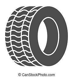 Tire solid icon. Automobile wheel vector illustration isolated on white. Car tyre glyph style design, designed for web and app. Eps 10.