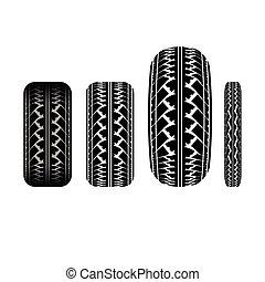 Tire track 1