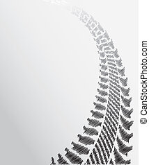 tire track background with special sketch design