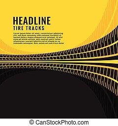 tire track marks background design