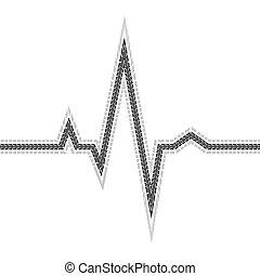 Tire track pulse