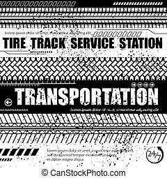 Tire track service station white