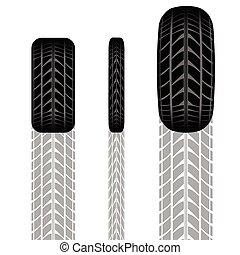 Tire track set