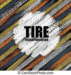 Tire tracks circle color