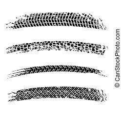 Tire Tracks Elements
