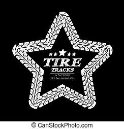 Tire tracks frame