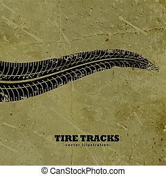 tire tracks on mud background vector