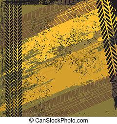 tire tracks over background vector illustration
