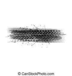 Tire tracks transparent frame background
