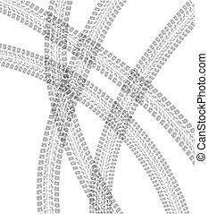 Tire tracks vector background illustraion