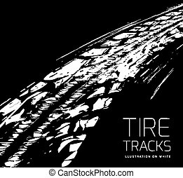 Tire tracks vector background