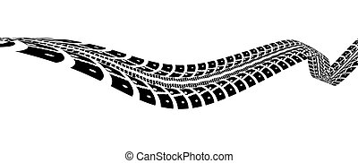 Tire tracks vector illustration