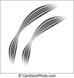 Tire tracks with gradient