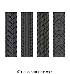 Tire tracks with lines