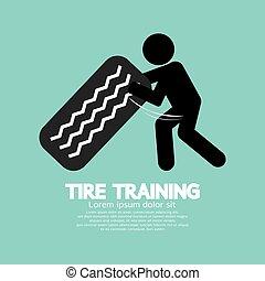 Tire Training Workout Symbol Vector Illustration