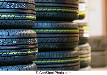 Tire tread close up - Tire tread in a macro mode