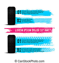 Tire tread marks infographic