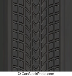 Tire Tread Pattern - A car or truck tire tread texture that...