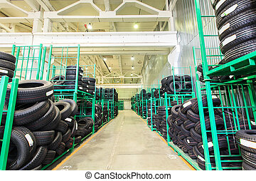 tire, warehouse - The warehouse complex for the storage of...