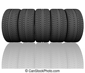 tire wheel concept 3D render