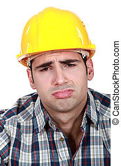 Tired builder
