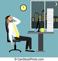 tired businessman or office worker