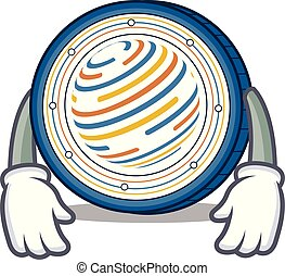 Tired Factom coin mascot cartoon vector illustration