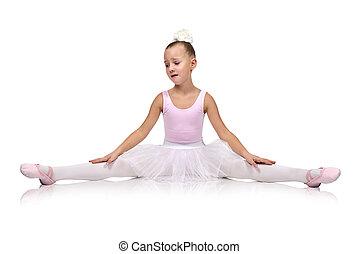 tired little  ballet dancer