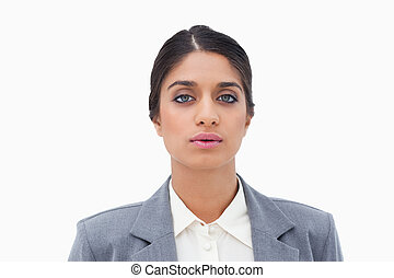 Tired looking businesswoman