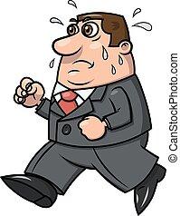 Tired running businessman 2