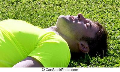 Tired sport man