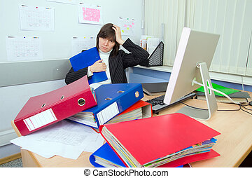 Tired the employee of office
