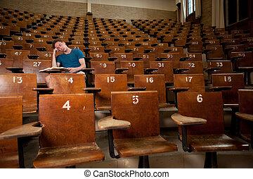 Tired University Student