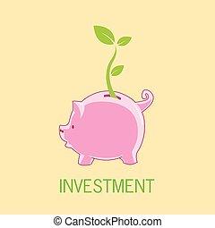 tirelire, investissement