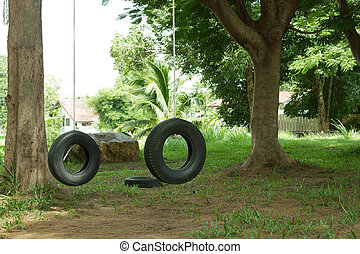 Tires Boy Scout camp