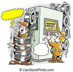 Tires Machine goes amok - Tire Machine goes amok
