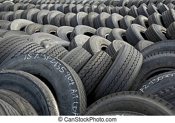 Tires - Stockpile of used tires