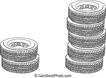 Tires. Vector illustration