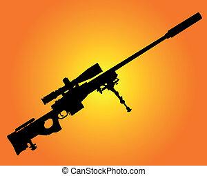 tireur embusqué, fusil
