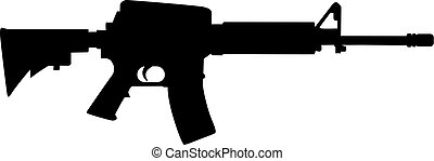 tireur embusqué, silhouette, fusil