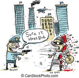 tireur, police