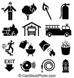 tirez sécurité, icônes